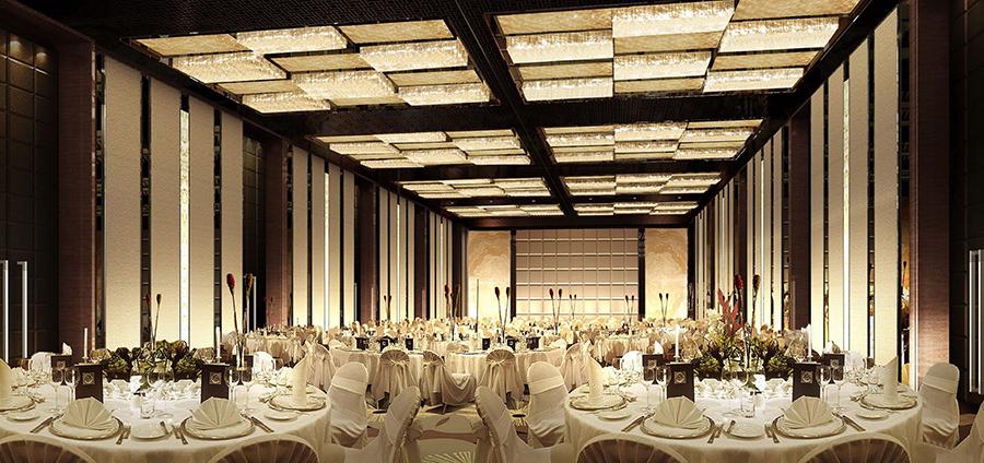 成都高档酒店宴会厅装修设计