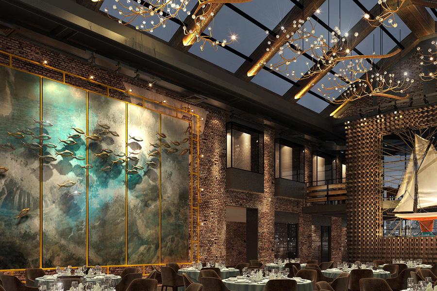 工业风厂房餐厅装修设计效果图欣赏