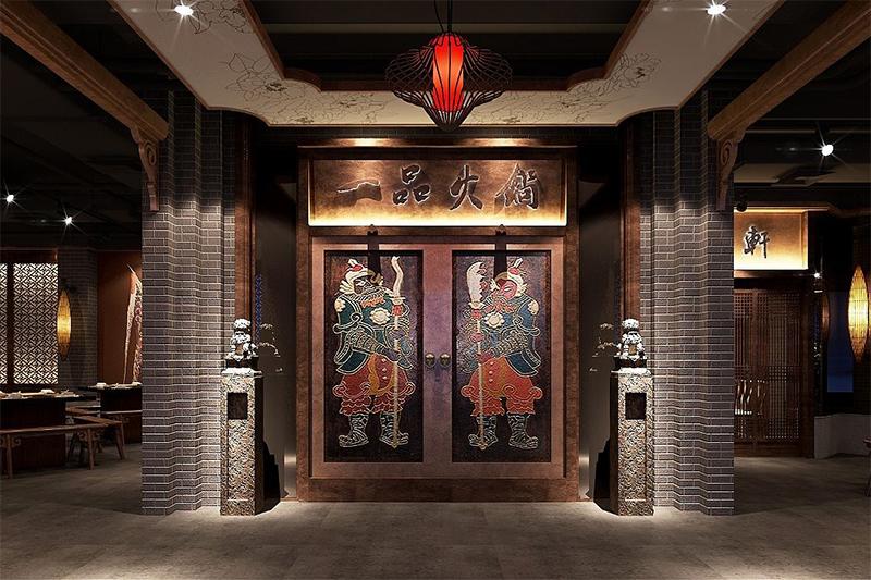 火锅店门头装修设计效果图照片锦集