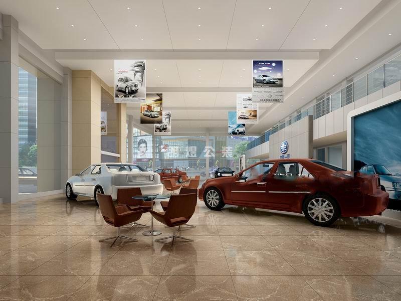 汽车4s店展示空间装修布置设计效果图
