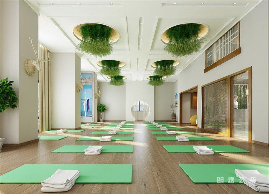 成都私人瑜伽馆装修设计效果图欣赏