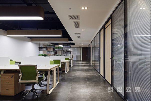 现代简约办公空间吊顶装修效果图欣赏