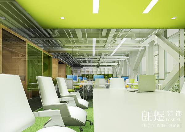 信息科技公司办公室装修效果图