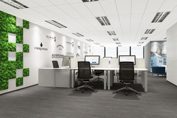 现代感十足的办公空间装修效果图